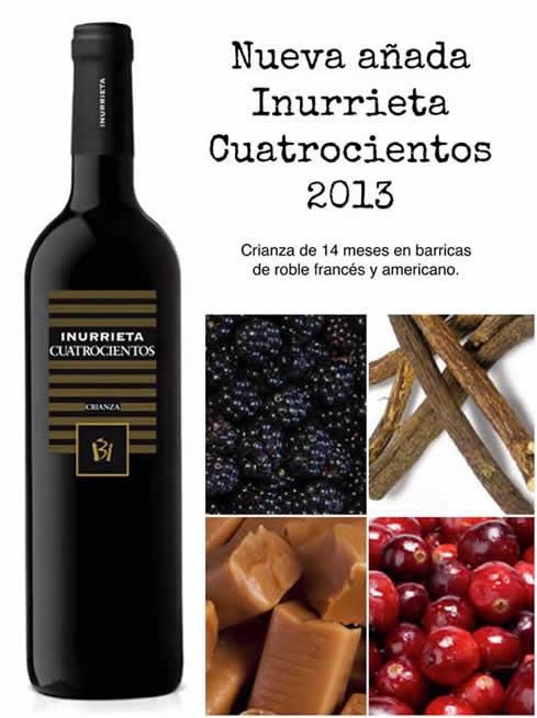 """New vintage """"Inurrieta Cuatrocientos 2013"""""""