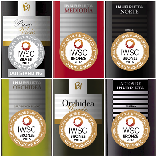 Seis medallas para Bodega Inurrieta en » International Wine & Spirit Competition»