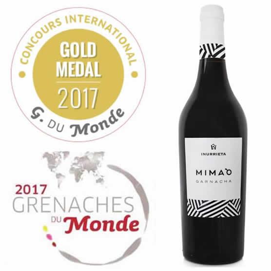INURRIETA MIMA`O, medalla de oro en el «Concurso Internacional Grenaches du Monde».