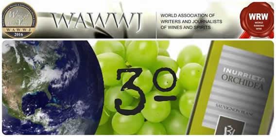 Inurrieta «Orchidea 2014» elegido el tercer mejor «Sauvignon Blanc» del mundo.