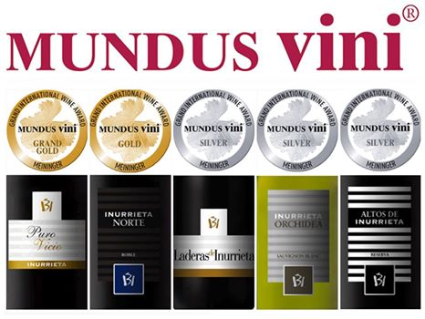 Cinco medallas para Bodega Inurrieta en la cata de primavera de Mundus Vini 2017