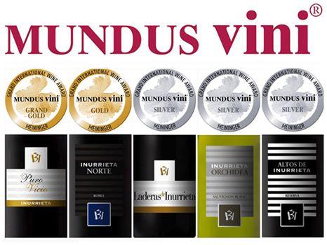 Five medals for Bodega Inurrieta at Mundus Vini 2017