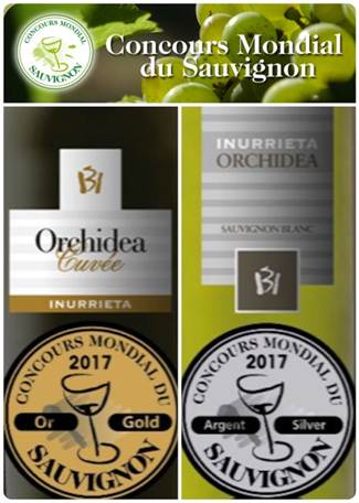 Inurrieta Orchidea Cuvée: wine revelation of Spain in the Concours Mondial du Sauvignon 2017