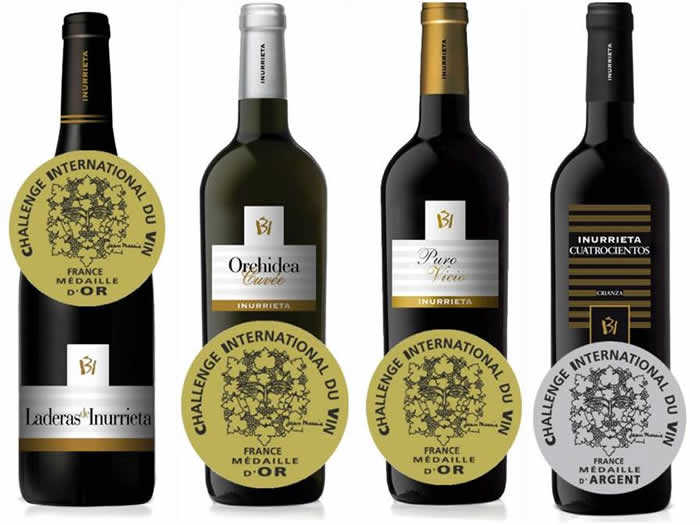 Challenge International du Vin: three golds and one silver for Bodega Inurrieta