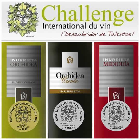 Einen gold-und zwei silber-Challenge International du Vin für Bodega Inurrieta