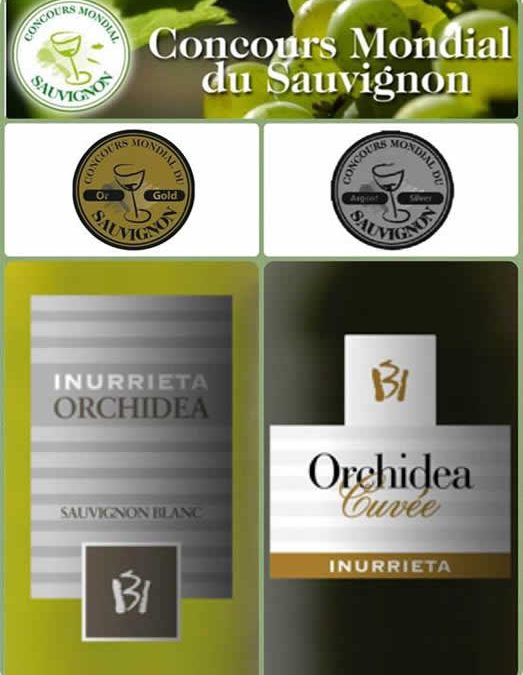 Bodega Inurrieta; two sauvignon blanc wines, two medals at the Concours Mondial du Sauvignon