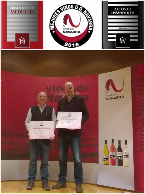 Two wines from Inurrieta winery selected as the best wines D.O. Navarra