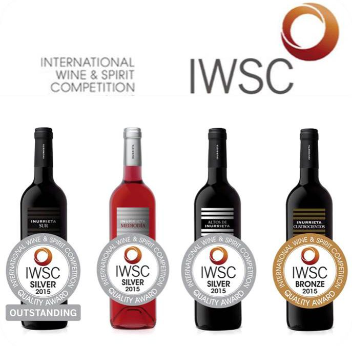 "Vier medaillen für Bodega Inurrieta bei der ""International Wine & Spirit Competition"""