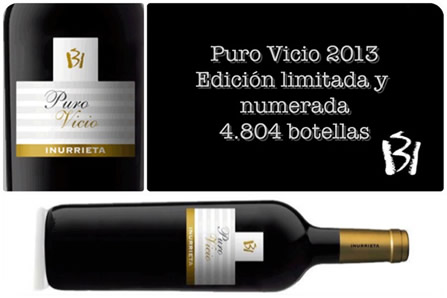 "New vintage ""Inurrieta Puro Vicio 2013"""