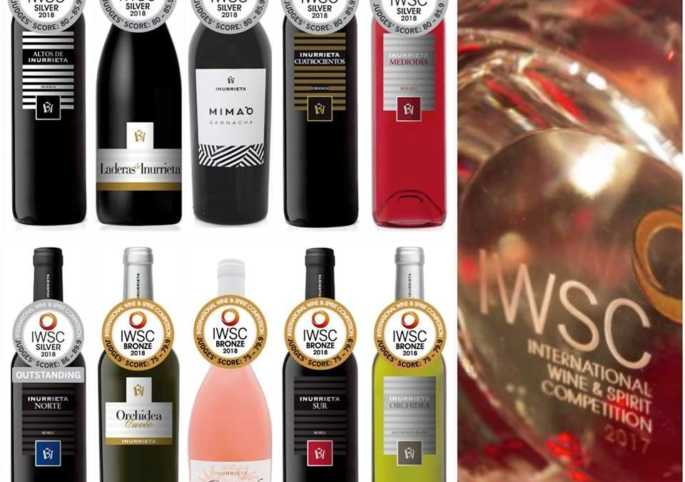 Ten Medals for Bodega Inurrieta at the International Wine & Spirit Competition (IWSC).