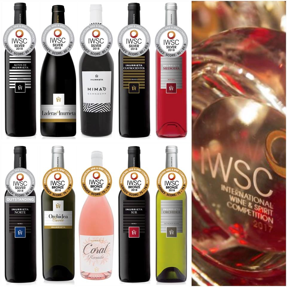 Diez Medallas para Bodega Inurrieta en The International Wine and Spirit Competition (IWSC)