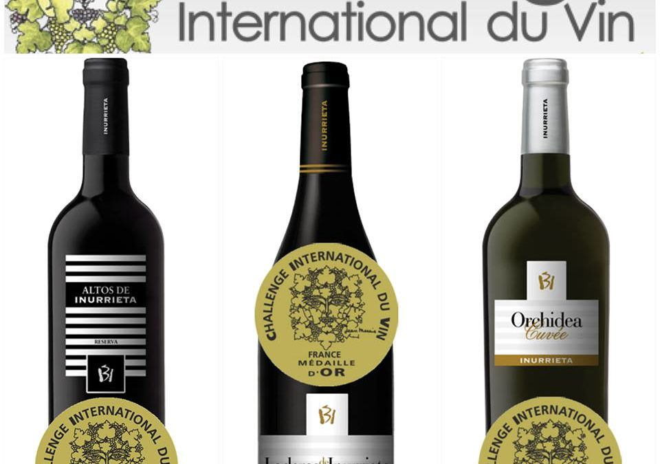 Three Gold Medals for Bodega Inurrieta at the renowned Challenge International du Vin