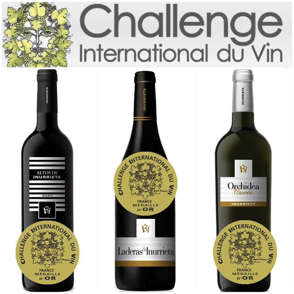 Tres Medallas de Oro para Bodega Inurrieta en el prestigioso concurso «Challenge International du Vin