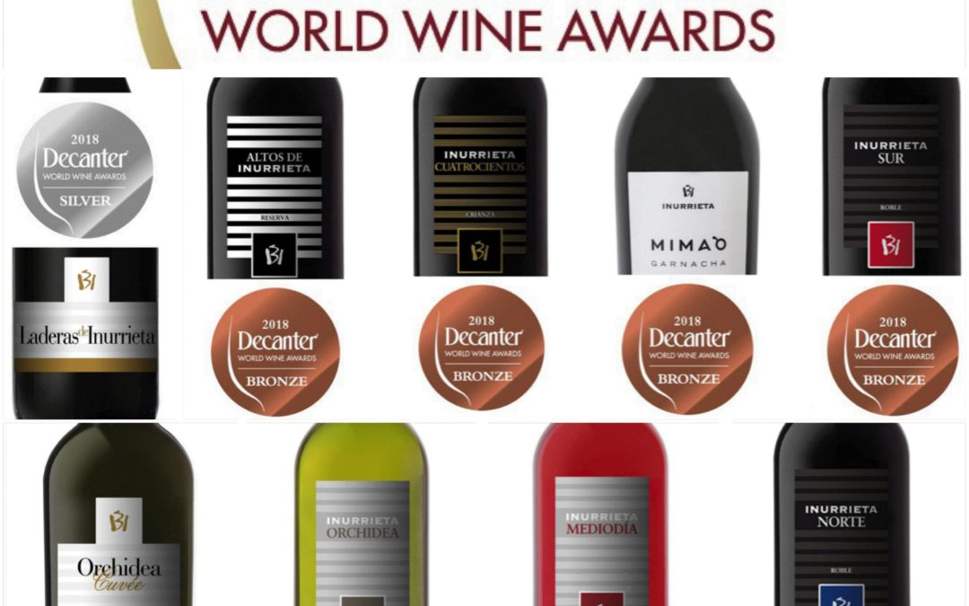Nine Medals for Bodega Inurrieta at the Decanter World Wine Awards.