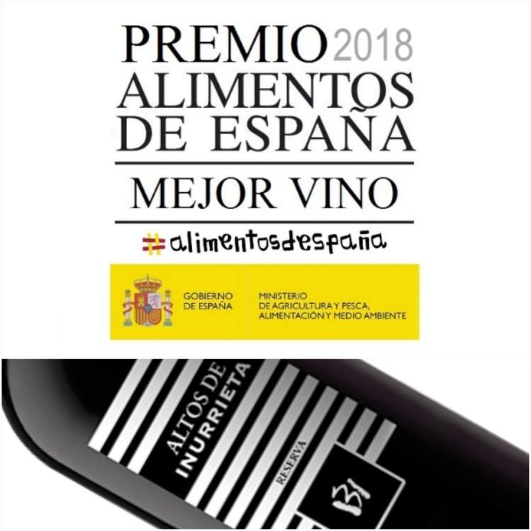 Altos de Inurrieta 2014,  Mejor Vino 2018