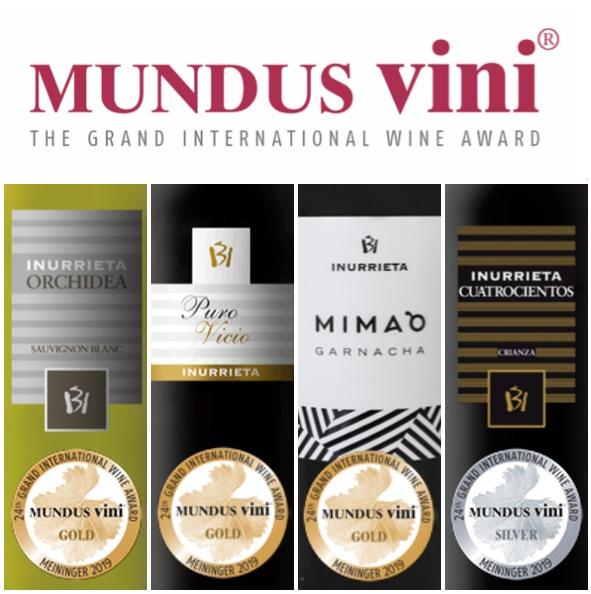 Tres Medallas de Oro y Una de Plata en Mundus Vini 2019