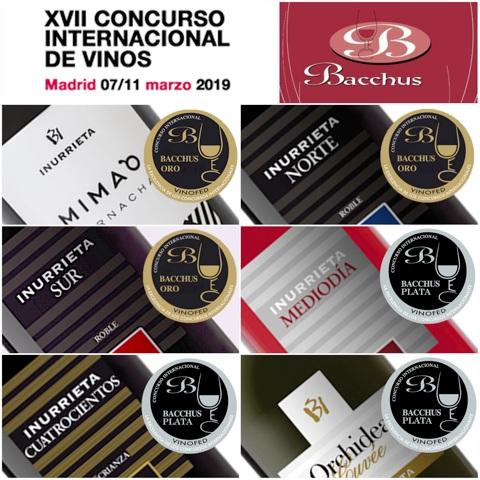 Seis Medallas para Bodega Inurrieta en el XVII Concurso Internacional de Vinos Bacchus