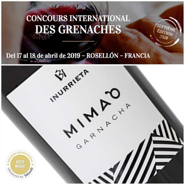 Inurrieta MIMA`O, Gold Medal at the International Grenache Competition