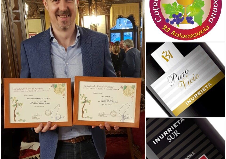 Inurrieta Sur and Inurrieta Puro Vicio awarded at the DO Navarra Wine Quality Competition