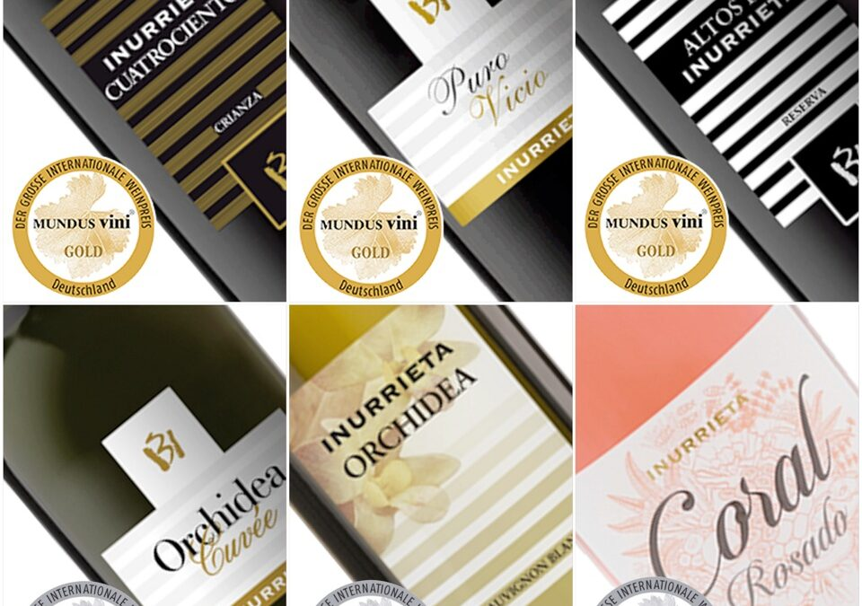 Six Medals for Bodega Inurrieta at Mundus Vini 2020