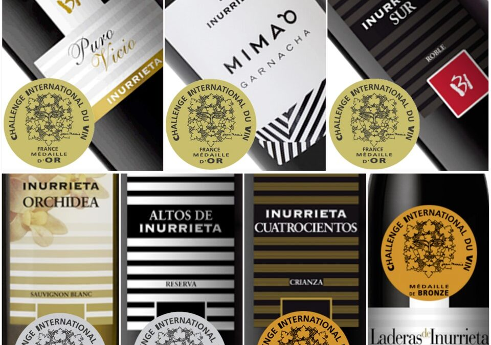 Seven Medals for Bodega Inurrieta in Challenge International du Vin