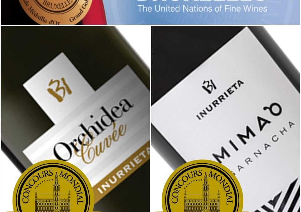 Two Gold Medals for Bodega Inurrieta at the famous Concours Mondial de Bruxelles
